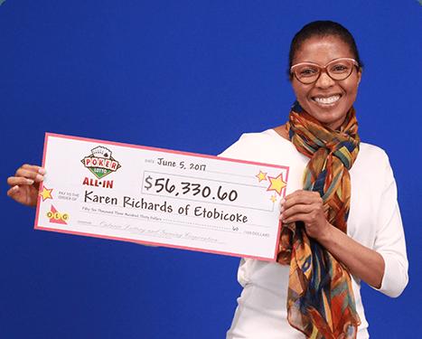 RECENT Poker Lotto WINNER - Karen