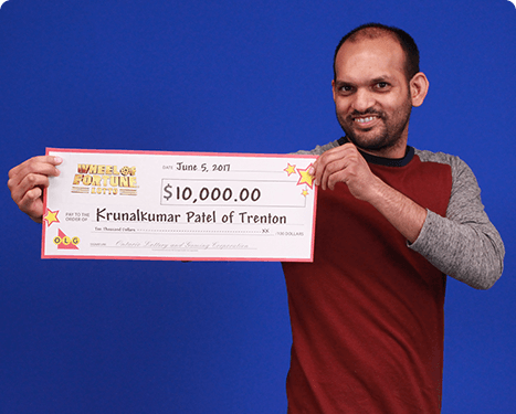 RECENT Wheel of Fortune® Lotto WINNER - Krunalkumar Patel-Wheel of Fortune Lotto Winner