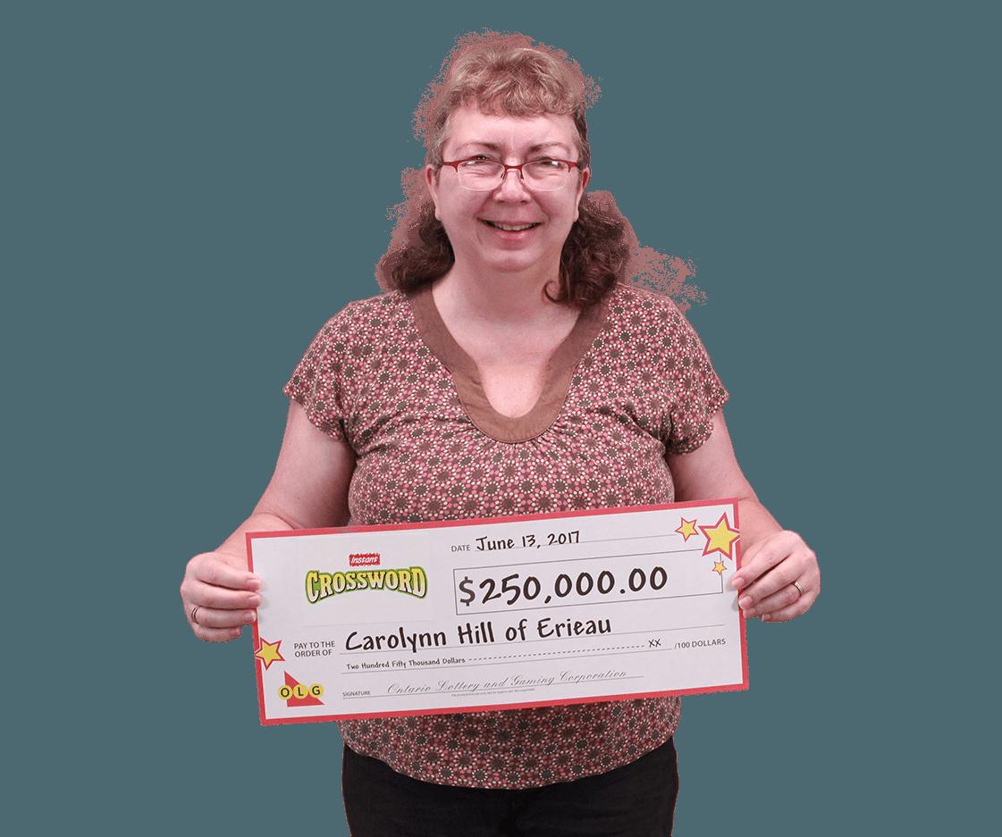 RECENT Instant WINNER - Carolynn Hill
