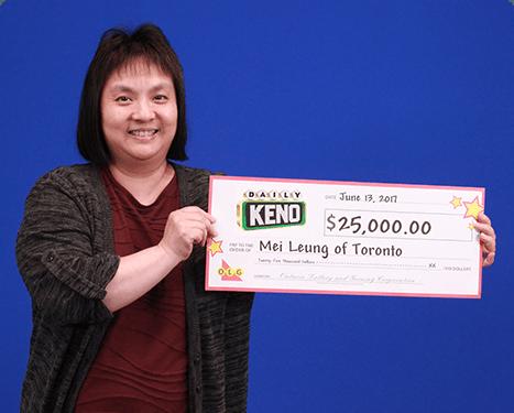 RECENT Daily Keno WINNER - Mei Leung