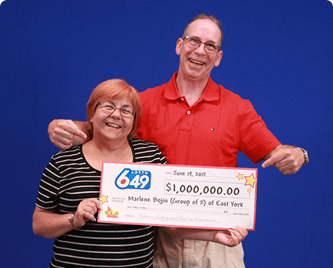 RECENT Lotto 6/49 WINNERS - Marlene Bojin & Alasdair Reid