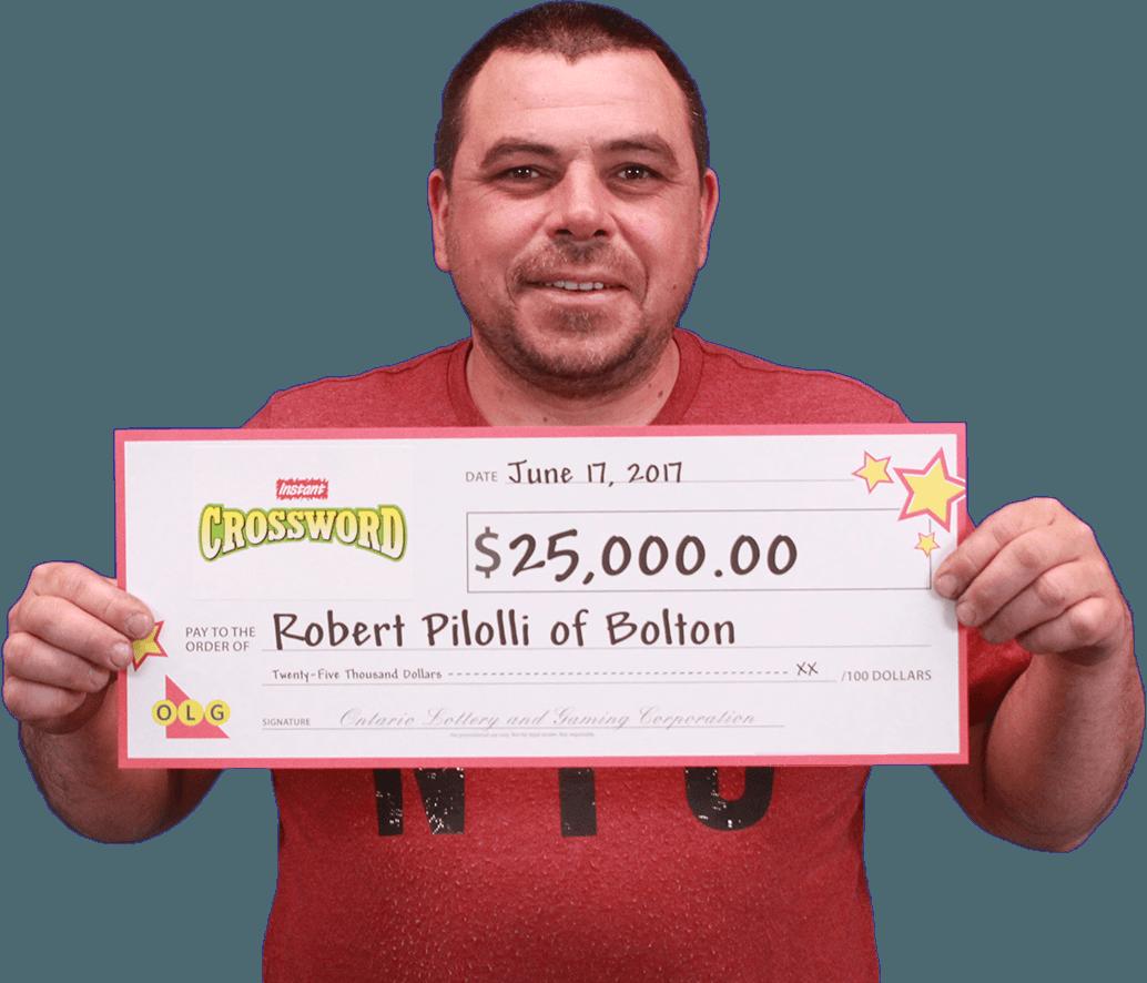 RECENT Instant WINNER - Robert Pilolli