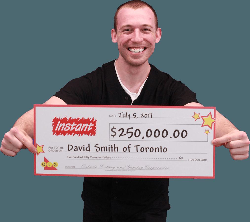 RECENT Instant WINNER - David Smith