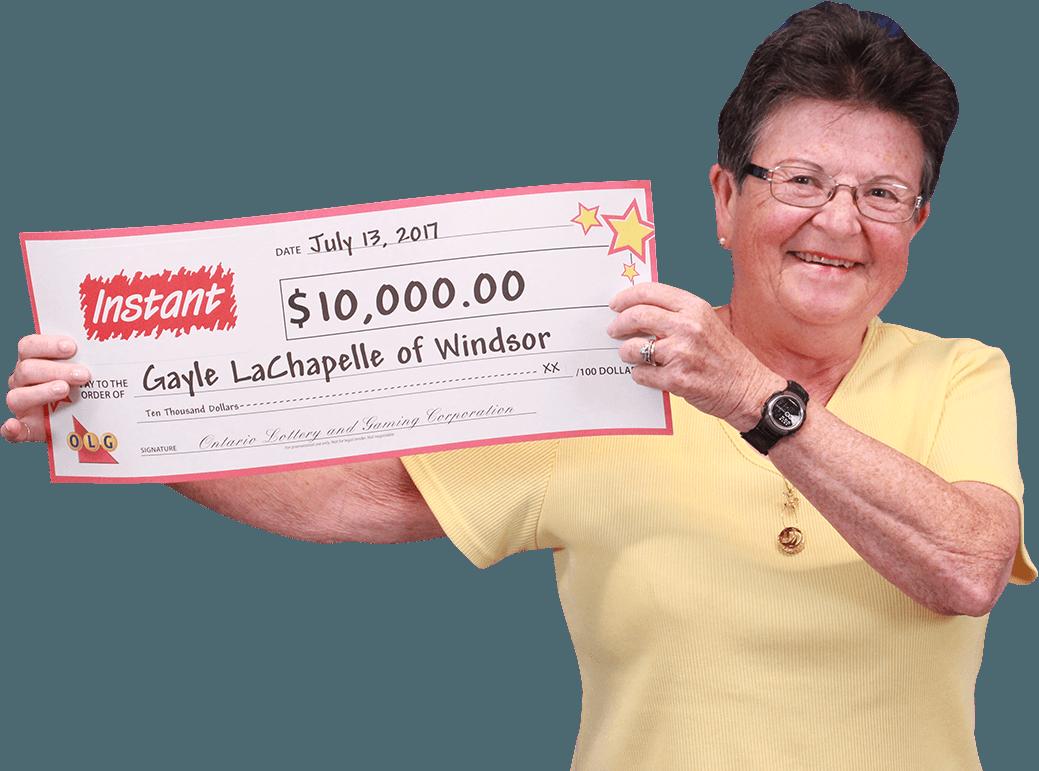 RECENT Instant WINNER - Gayle Lachapelle