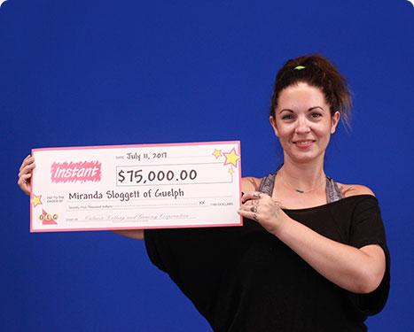 RECENT Instant WINNER - Miranda Sloggett