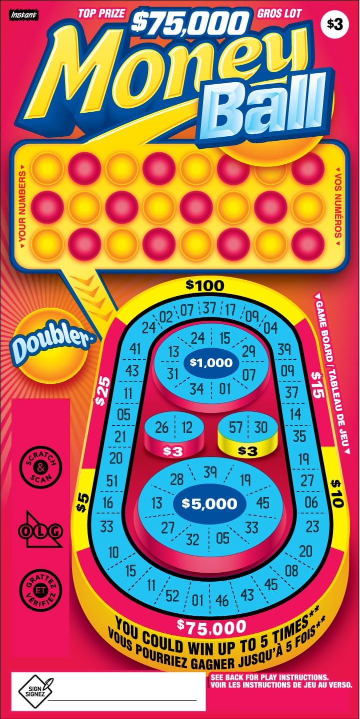 Money Ball ticket
