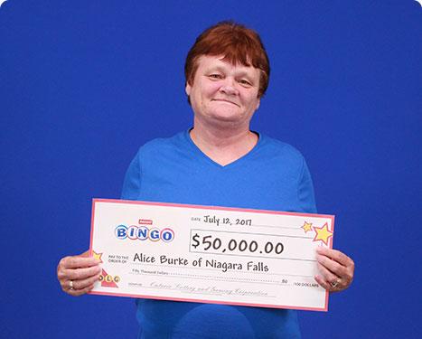 RECENT Instant WINNER - Alice Burke