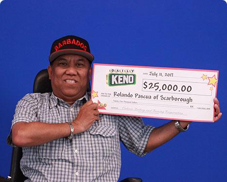 RECENT Daily Keno WINNER - Rolando Pascua