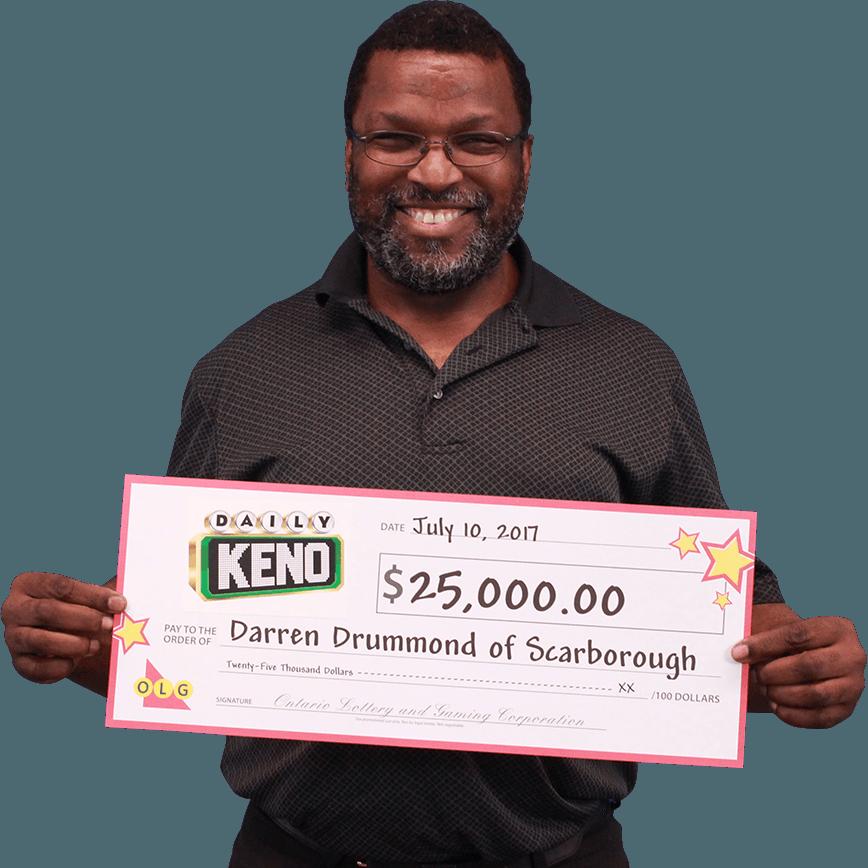 RECENT Daily Keno WINNER - Darren Drummond