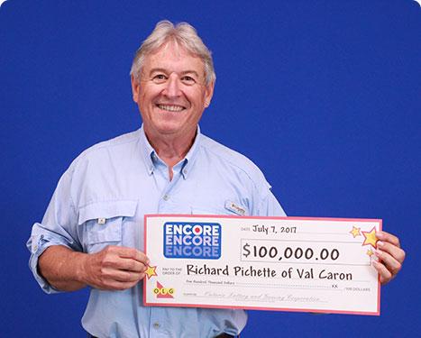RECENT Encore WINNER - Richard Pichette