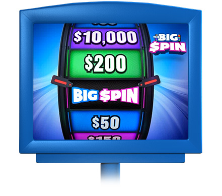 the big spin game in display screen