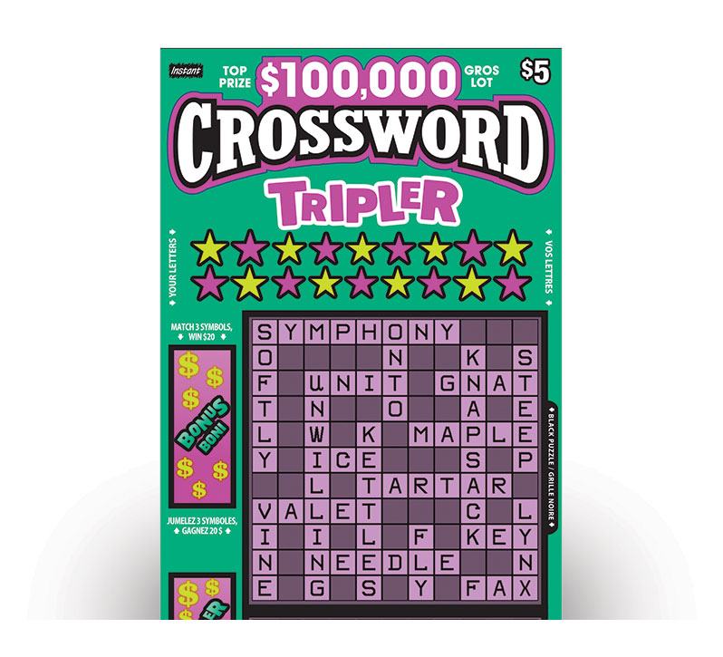 Billet de CROSSWORD TRIPLER