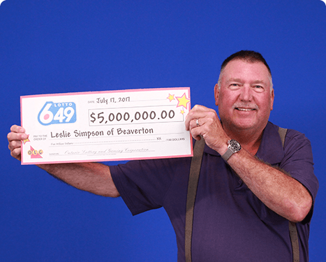 RECENT Lotto 6/49 WINNER - Leslie Simpson