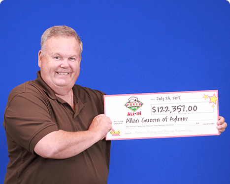 RECENT Poker Lotto WINNER - Allan Guerin