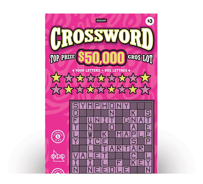 INSTANT CROSSWORD Ticket