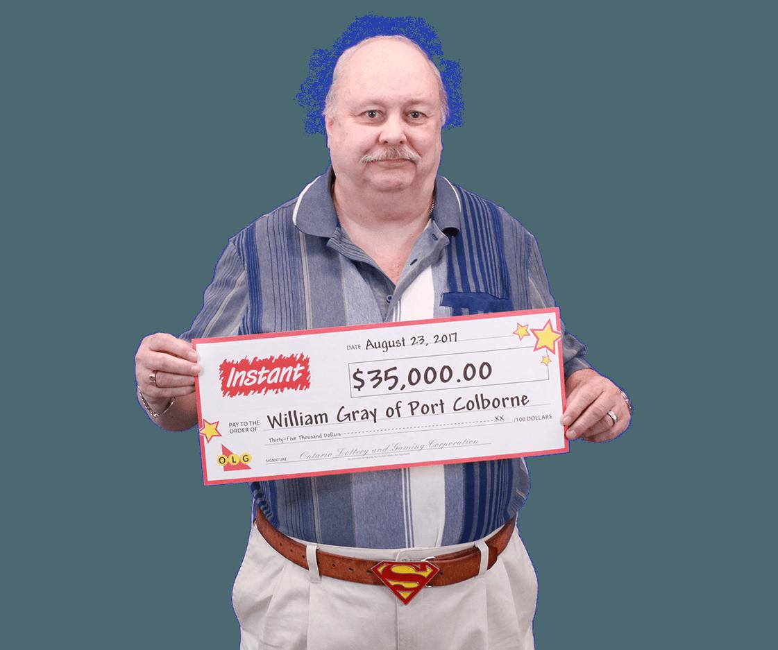 GAGNANT RÉCENT À UN JEU INSTANT - William