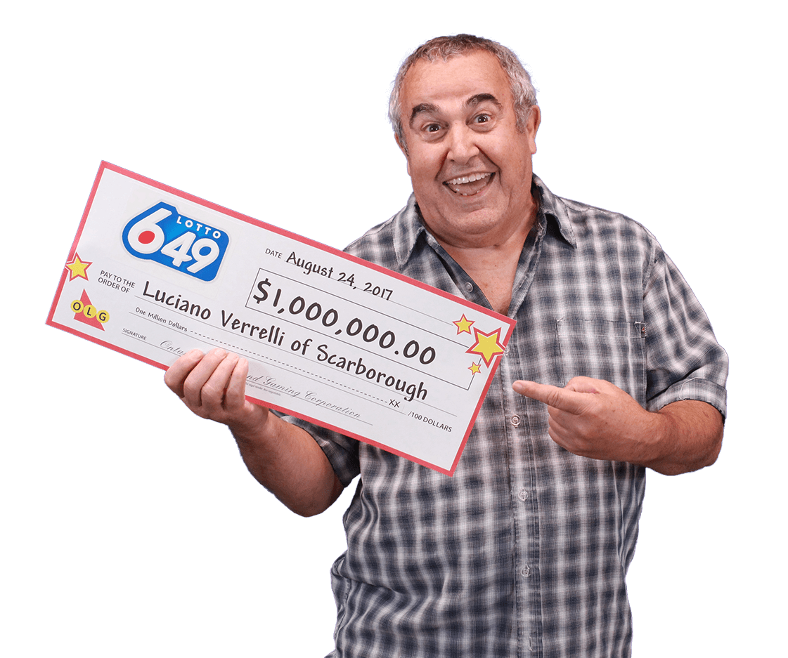 RECENT Lotto 6/49 WINNER - Luciano Verrelli