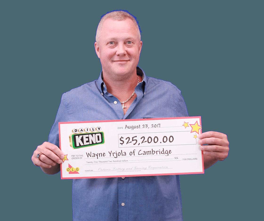 RECENT Daily Keno WINNER - Wayne Yrjola