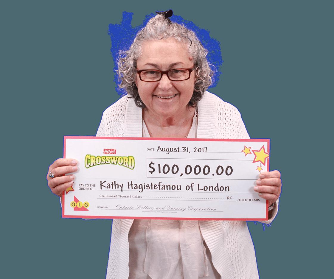 RECENT Instant WINNER - Kathy Hagistefanou