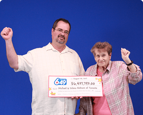 RECENT Lotto 6/49 WINNERS - Michael Hobson & Velma Hobson
