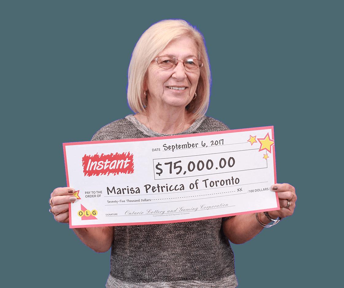 RECENT Instant WINNER - Marisa Petricca