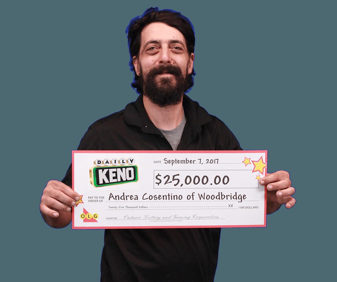 RECENT Daily Keno WINNER - Andrea Cosentino