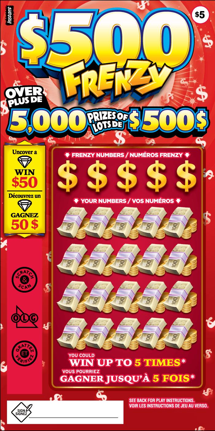 $500 FRENZY TICKET