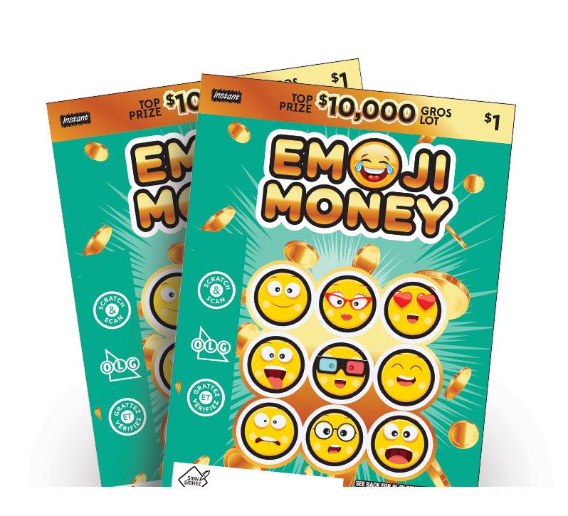 Deux billets Emoji Money