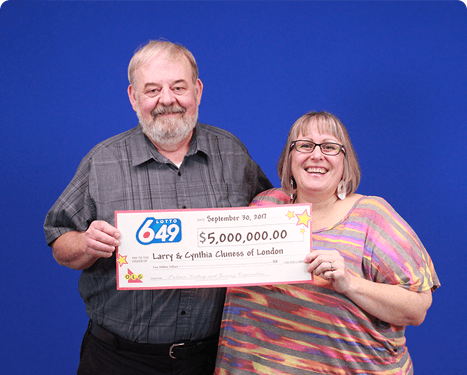 RECENT Lotto 6/49 WINNERS - Larry & Cynthia Cluness