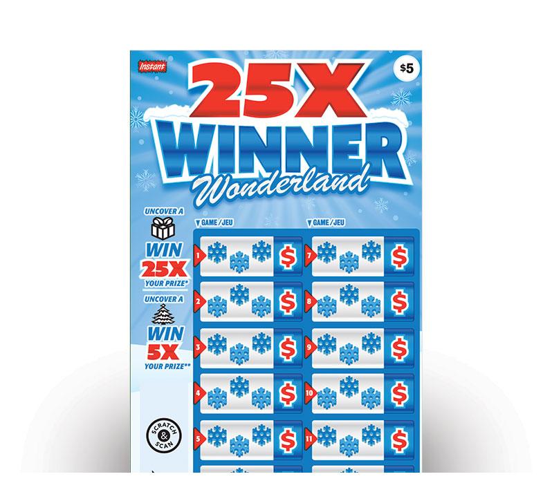 25X WINNER WONDERLAND