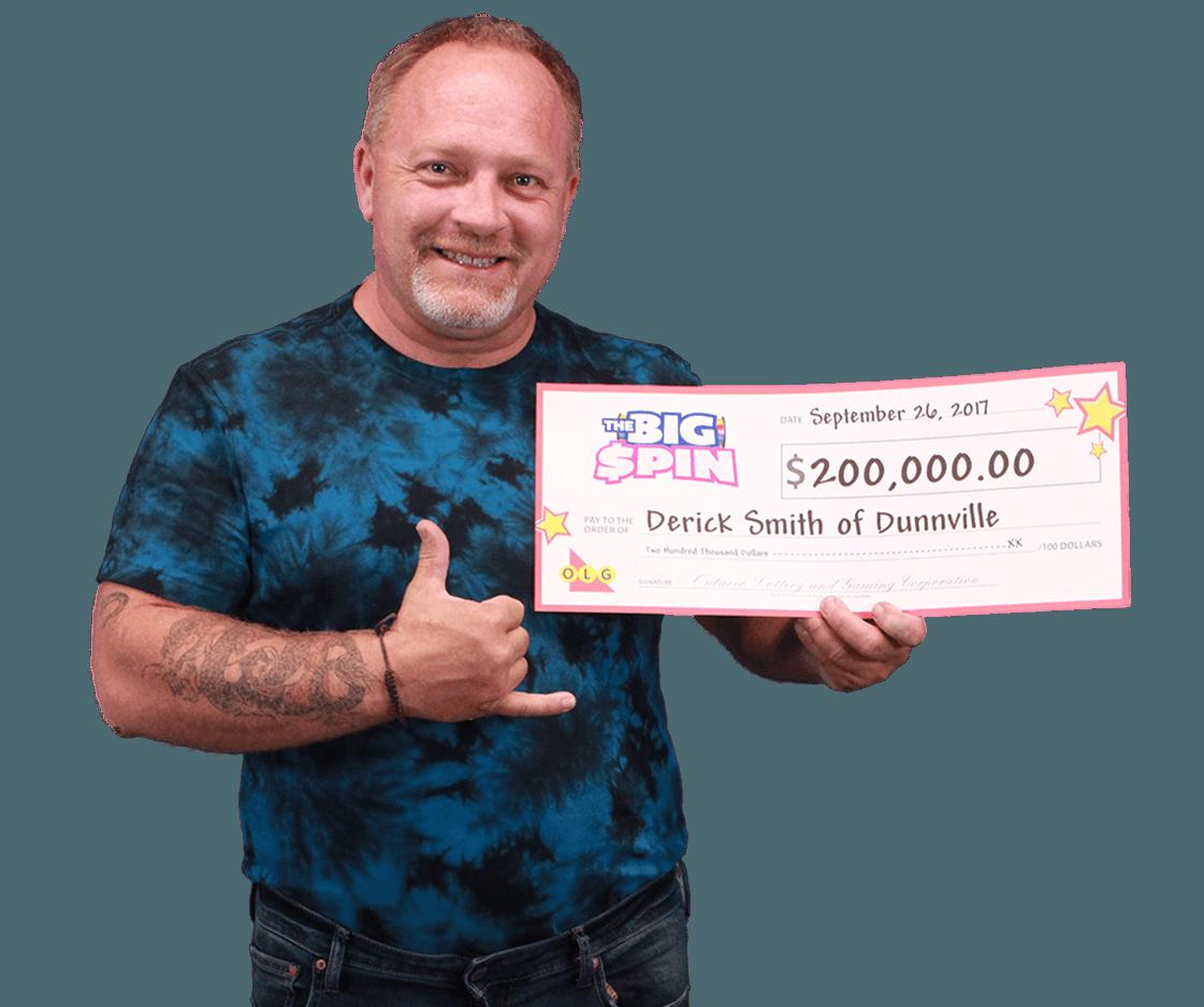 RECENT Instant WINNER - Derick Smith
