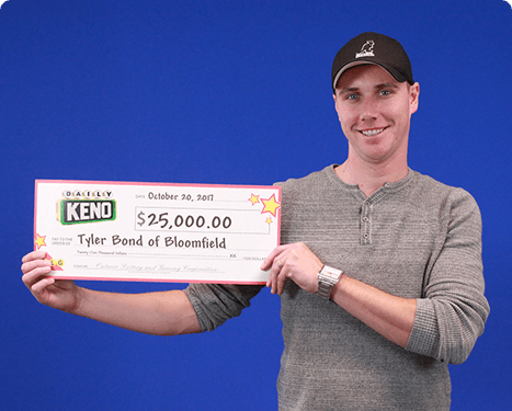 RECENT Daily Keno WINNER - Tyler Bond
