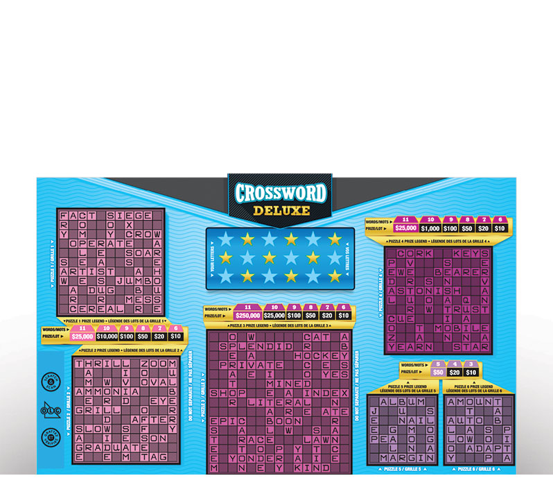 CROSSWORD DELUXE Instant Ticket