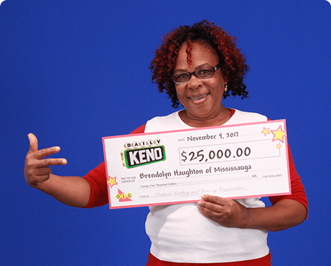 RECENT Daily Keno WINNER - Brendolyn Haughton