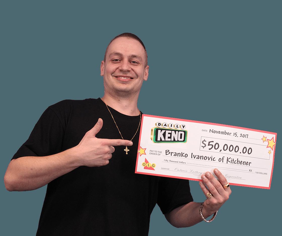 RECENT Daily Keno WINNER - Branko