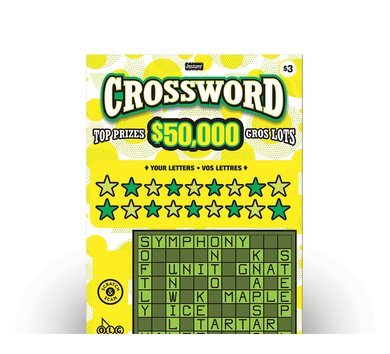 INSTANT CROSSWORD Instant Ticket