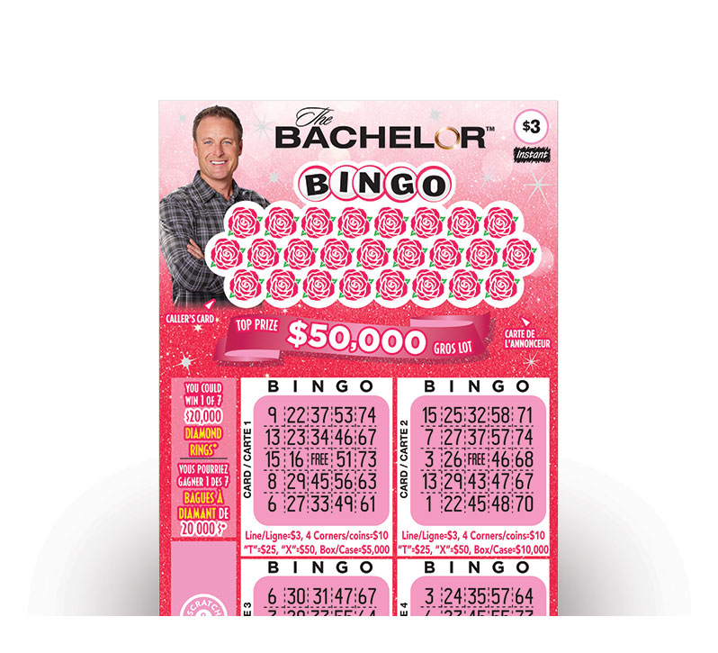THE BACHELOR™ BINGO  Instant Ticket