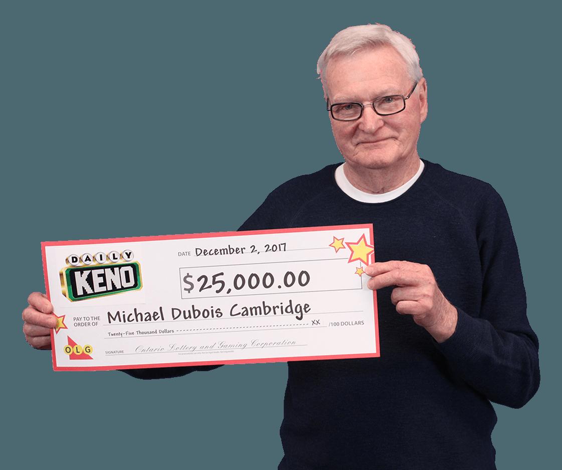 RECENT Daily Keno WINNER - Michael
