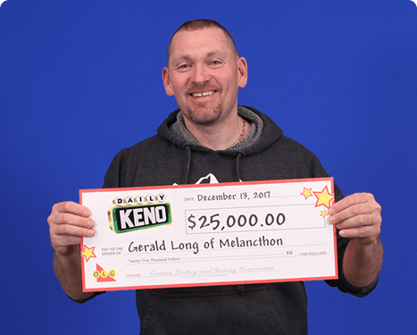 RECENT Daily Keno WINNER - Gerald