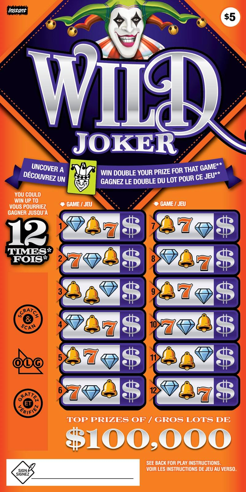 Wild Joker ticket