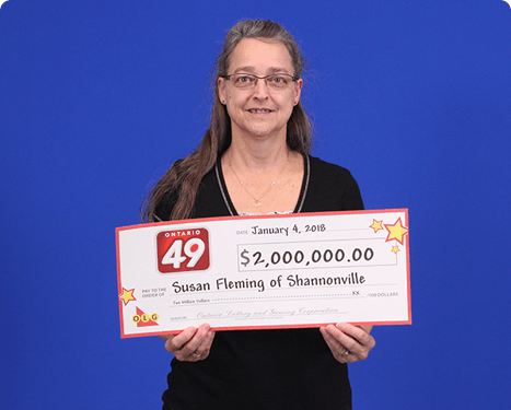RECENT Ontario 49 WINNER - Susan