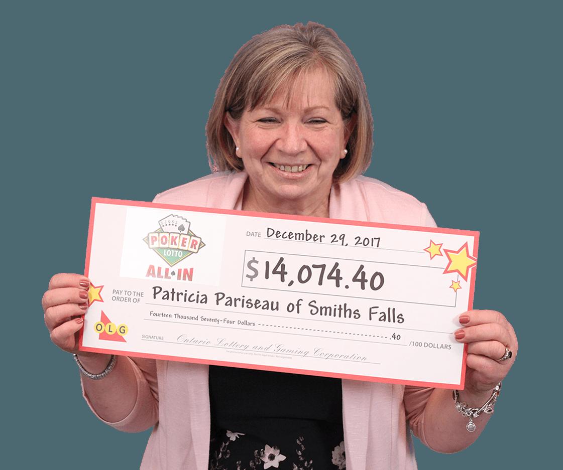 GAGNANTE RÉCENTE À Poker Lotto - Patricia