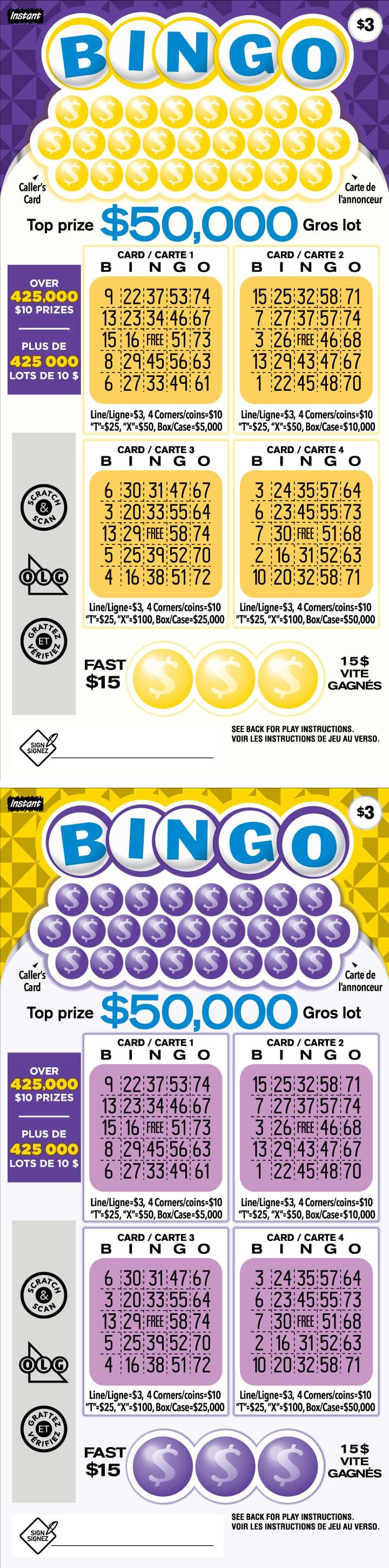 Instant Bingo 3025 tickets