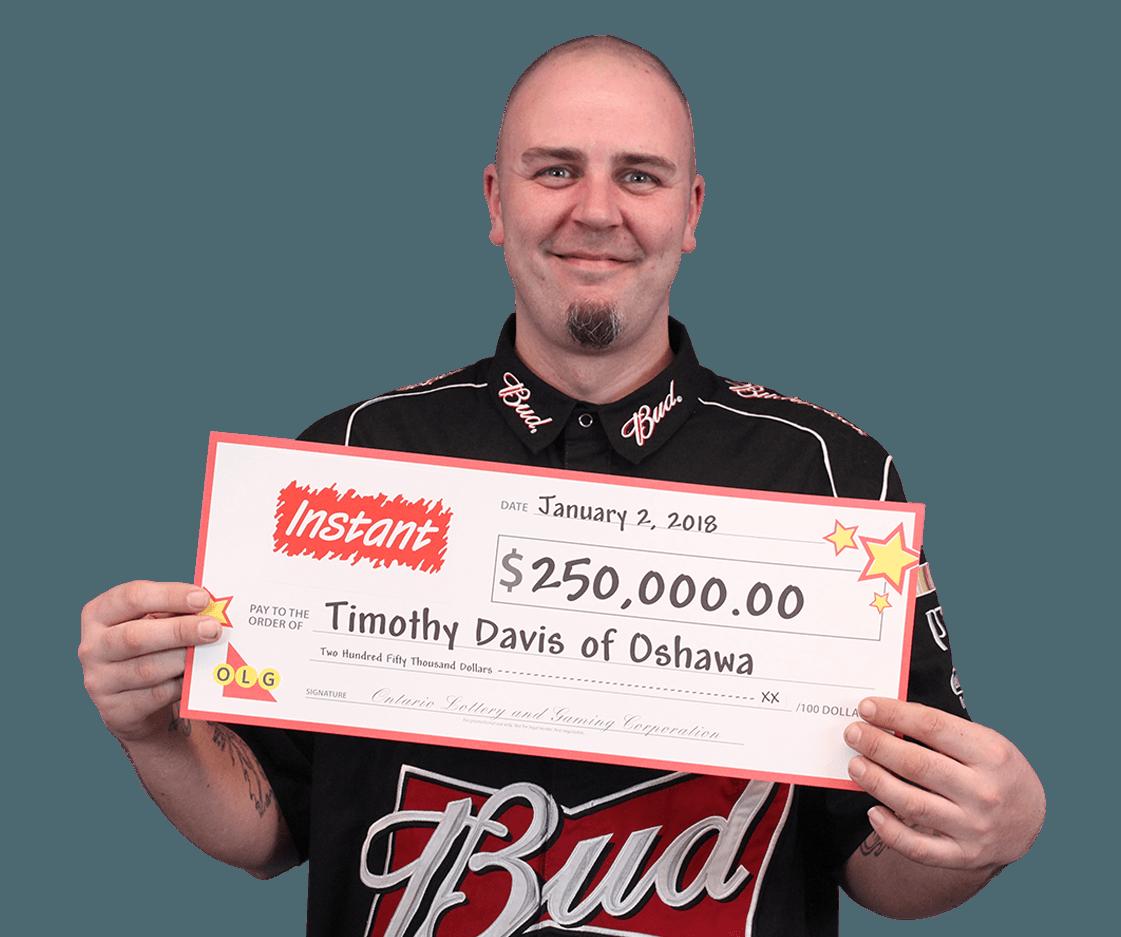 RECENT Instant WINNER - Timothy