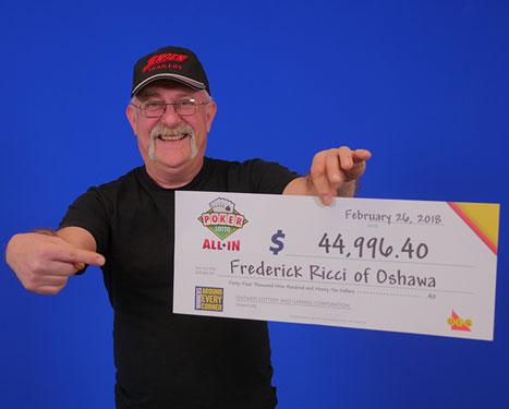 RECENT Poker Lotto WINNER - Frederick