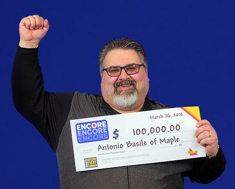 RECENT Encore WINNER - Antonio