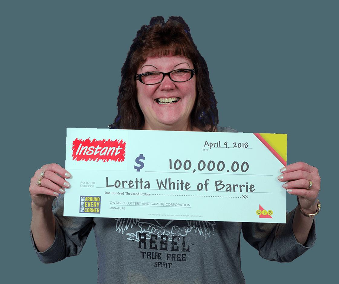 RECENT Instant WINNER - Loretta
