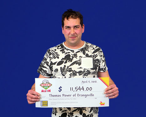 RECENT Poker Lotto WINNER - Thomas