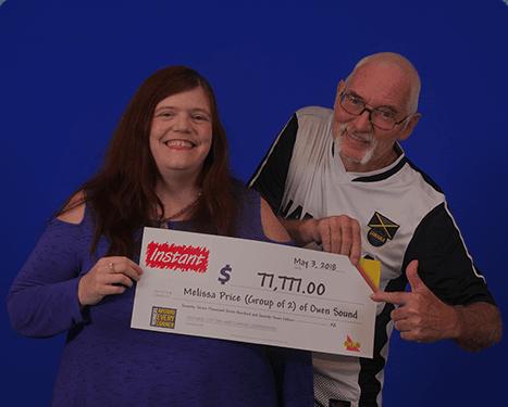 RECENT Instant WINNERS - Melissa & William