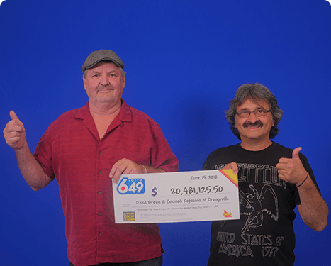 RECENT Lotto 6/49 WINNERS - David & Emanoil